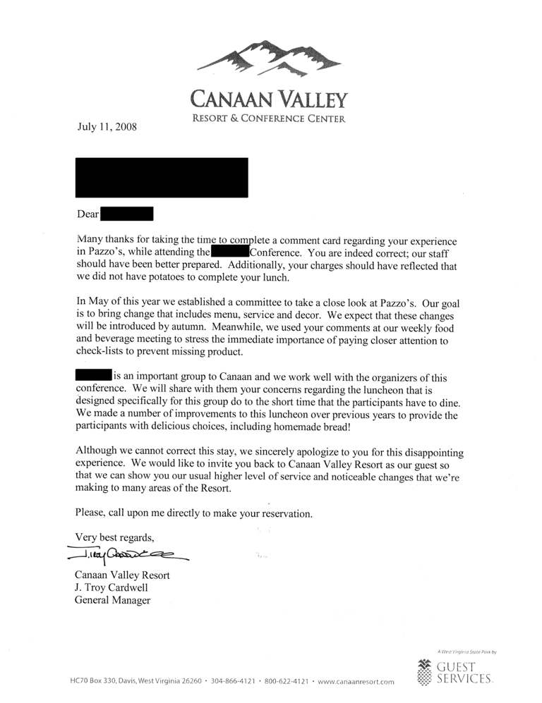 Apology Letter From Canaan  Is It Too Little Too Late  Fork You