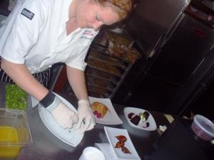 Abigail B. prepares desserts at SHMC