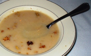 Apple Soup and Walnuts with WV Honey