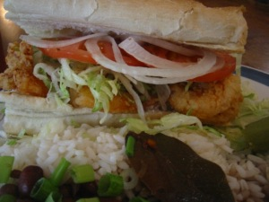 Fried Gulf Shrimp Po-Boy - $7.50
