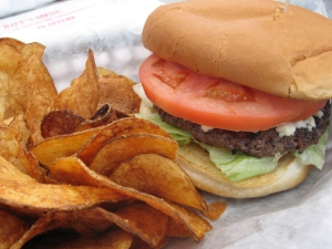 Charbroiled Burger with Assorted Cheese - $5.95