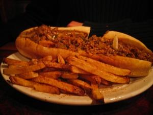 Chicken Steak Sandwich with Fries $8.25