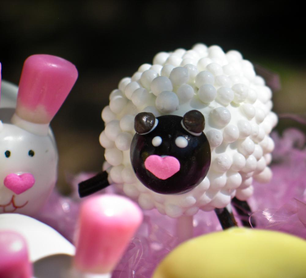 Easter Sheep Cake Pops