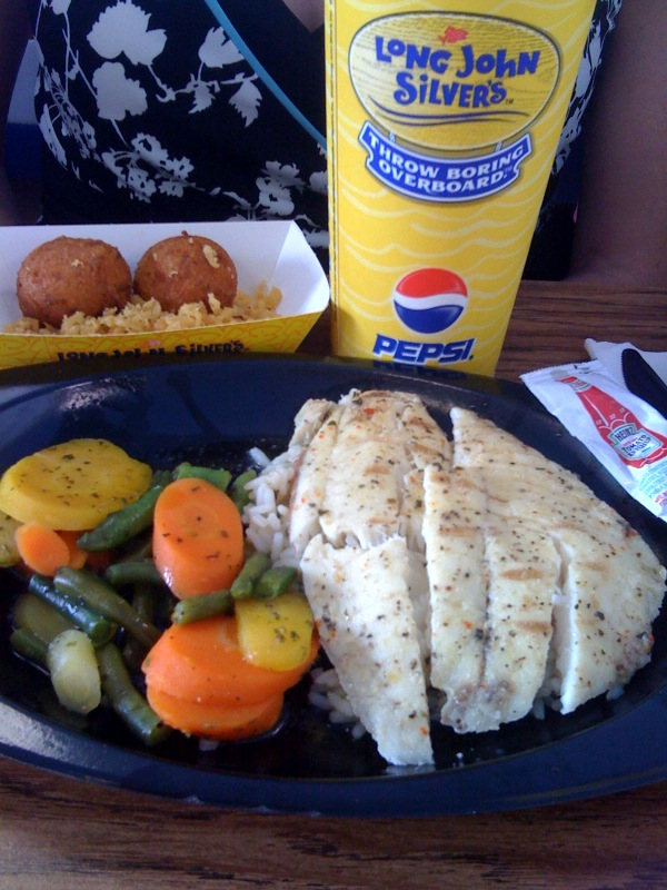 Low calorie meals at long john silvers fork you for Long john silver s fish and chips