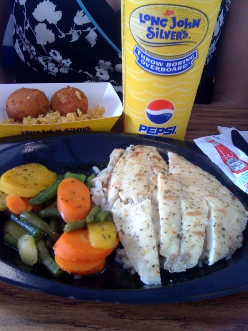 long john silver tilapia low cal