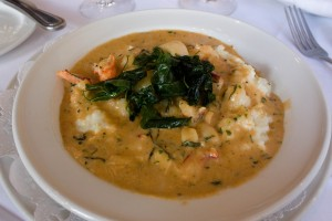 magnolia shellfish over grits